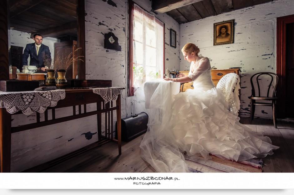 fotografia ślubna w skansenie