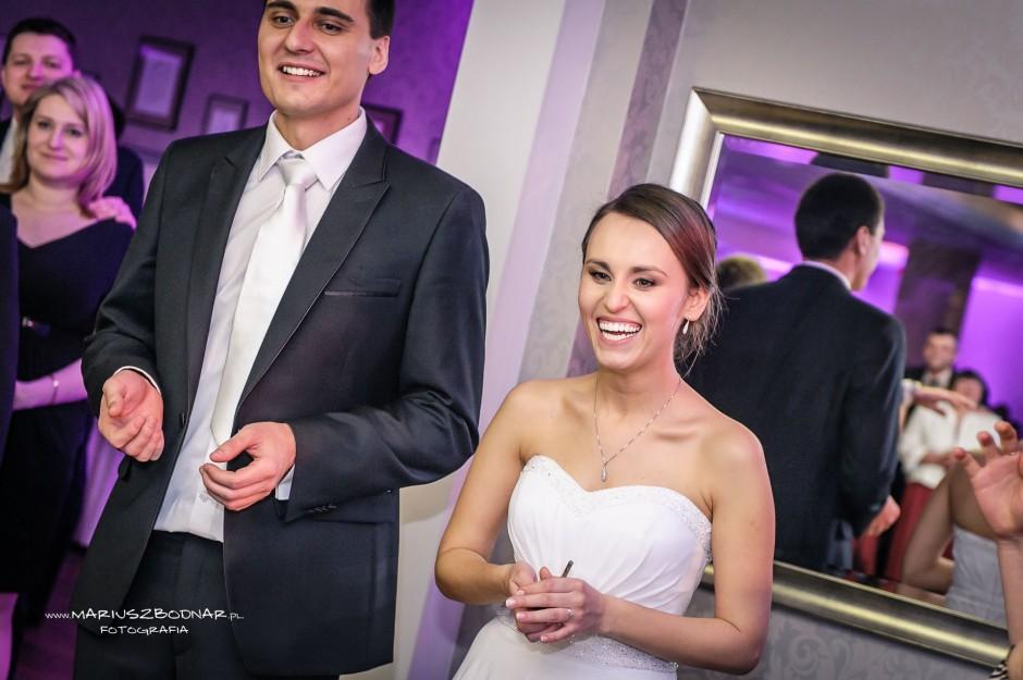 fotografia ślubna na weselu