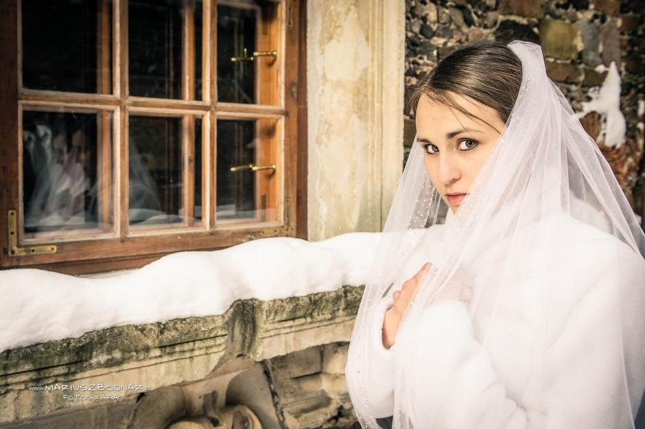 zdjęcia ślubne zimą